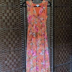 Sweet Pea for NY & Co. Orange Floral Maxi Dress Sm